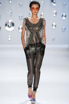 Custo Barcelona #thelook #pants #net #see-through #design #trackpants