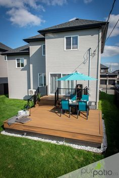 Small Backyard Decks, Backyard Plan, Small Backyard Design, Backyard Patio Designs, Small Deck Designs, Cozy Patio, Building A Deck, Fresco, Outdoor Rooms