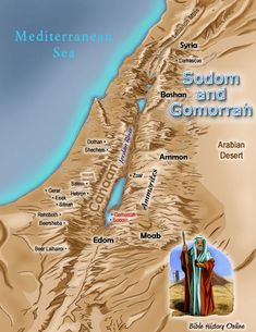 Map of Sodom and Gomorrah Possibly