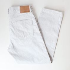 [Men's&Ladies']ordinary fits / Denim cropped pants : white