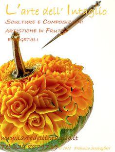 Home Page L'Arte dell'Intaglio di Frutta e Vegetali - Corsi di Intaglio Frutta