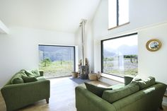 Sitting area with view over Loch Duich