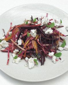 Crunchy raw beetroot salad with feta and pear #glutenfree #antiinflammatory #vegetarian