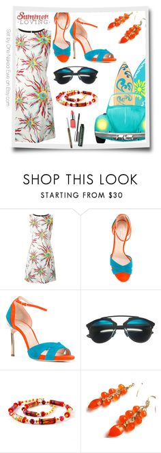 """""""Summer loving"""" by onenakedewe ❤ liked on Polyvore featuring FAUSTO PUGLISI, Casadei, Christian Dior, Clinique and sundress"""