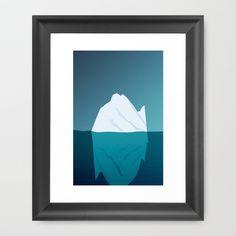 Iceberg in Cold Ocean Framed Art Print by Maciej Konczewski - $32.00    http://society6.com/MaciejK/Iceberg-in-Cold-Ocean_Framed-Print#12=52