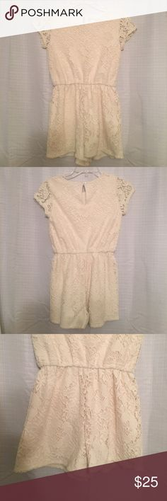 Red Camel Cream Lace Romper // Girls Size Large Red Camel Cream Lace Romper // Girls Size Large // Perfect condition, worn once Red Camel Dresses