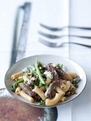 Rezept von Christian Rach: Pasta mit Rindfleisch, grünen Bohnen und Gorgonzola