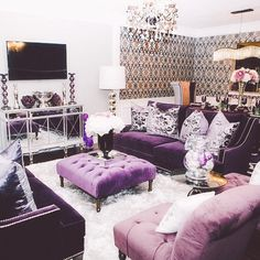 Dazzling Purple Living Room Designs | Tags: purple living room walls, purple living room color scheme, purple living room ideas, pink purple living room