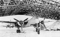 German night fighter Heinkel He 219 equiped with FUG-220 radar at Münster-Handorf in 1944 [1600 x 983]