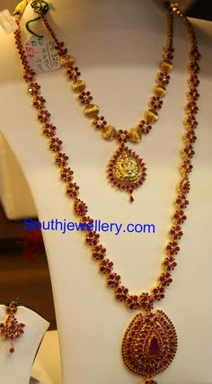 Floral Ruby Necklace and Haram