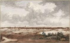 Jan de Bisschop, Blick auf Den Haag von Nordwesten, mit Delft in der Ferne, nach 1660 © Albertina, Wien
