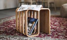 Woodieful Chair je multifunkční stolička ze dřeva