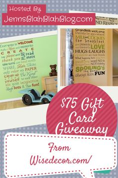 #Giveaway: Enter To #Win A $75 Gift Card To Wise Decor