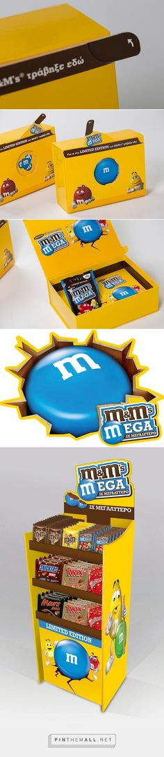 Μ&Μ's Limited Edition Promo box on Behance curated by Packaging Diva PD. Promo kit of M&Ms MEGA limited edition for Mars Hellas. Mmmm chocolate candy for the packaging smile file : )
