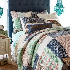 Junk Gypsy American Dreamer Patchwork Quilt + Sham #pbteen
