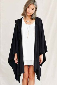 Urban Renewal Recycled Hooded Cape - Urban Outfitters