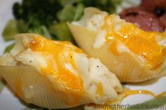 Why didn't we think of these @Kimberly Pan Pierogi Stuffed Shells {A great way to use up leftover mashed potatoes} {TMH}
