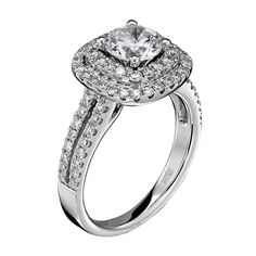 bbc641e50 14kt White Gold (H/SI) Ladies Engagement Ring From the Luminaire Collection  by Scott Kay