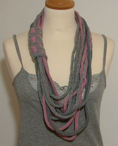 Multi-strand infinity scarf....my winter obsession