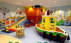 Interior , The Coolest Game Room Ideas for Giving Your Freshness After Busy Weekdays : Game Room For Kids With Ship Theme Design For Attractive Look