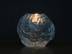 Vintage Kosta Boda Snowball Votive - Ann Wärff Design - Large Kosta Boda Crystal Candle Holder - Sweden Art Glass - Scandinavian Tea Light at EightMileVintage on Etsy