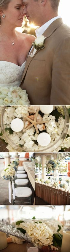 Simple/Neutral Beach Wedding