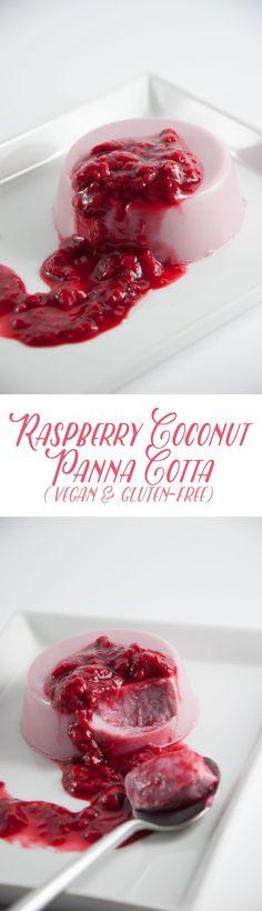 Vegan Raspberry Coconut Panna Cotta | Elephantastic Vegan