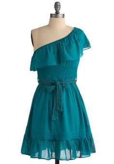 Paradise Pier Dress. With the sun shining warm upon you, the sea breeze cooling you off, and this dress keeping you comfortable and cute, life just couldn't get any better! #blue #modcloth
