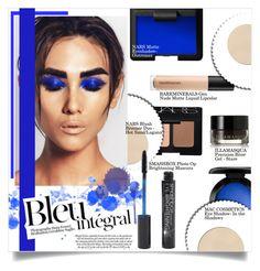 """Bleu Intégral"" by mila-me ❤ liked on Polyvore featuring beauty, NARS Cosmetics, Smashbox, Anja, MAC Cosmetics, Bare Escentuals, Illamasqua, cool, Beauty and black"
