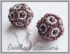 Dodecahedral earrings - tutorial
