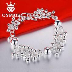 Hot Beads Fashion Silver Color Bracelet