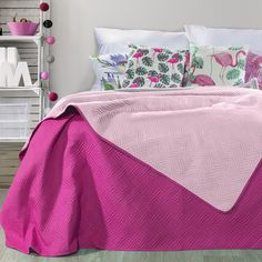 Cuvertura reversibila Fala Light Pink / Purple, 220 x 240 cm Pink Purple, Comforters, Blanket, Bed, Inspiration, Furniture, Home Decor, Creature Comforts, Biblical Inspiration