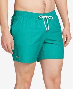 Lacoste Men's Basic Swim Trunks - Swimwear - Men - Macy's