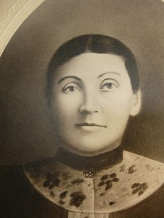 1800's antique photo Young woman with make up and brooch Folk art Flair cabinet card photo. $45.00, via Etsy.