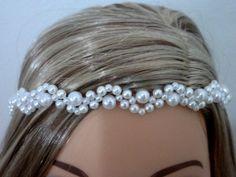 Faixa Tiara Headband Pérola Noiva Dama                              …