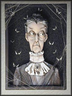 Carlotta Delmondo -- haunted shadow box by Jodi & Richard Creager