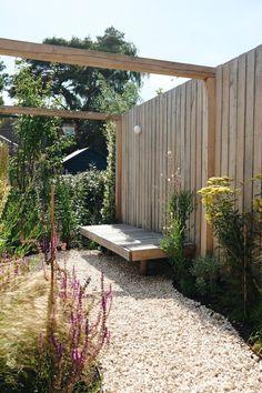 Scandi Garden, Garden Cottage, Home And Garden, Pergola Patio, Backyard Patio, Back Gardens, Outdoor Gardens, Landscape Design, Garden Design
