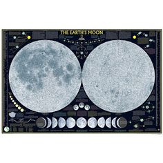 National Geographic Moon Map Poster