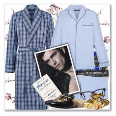 """""""Men's Pajamas"""" by rosalol ❤ liked on Polyvore featuring Canopy Designs, Jack Black, Harrods, Law of Sleep, Tom Ford, Gucci, men's fashion and menswear"""