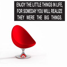 Muursticker tekst Enjoy the little things | Saynomorewebshop.nl