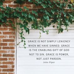 """Grace is not simply"