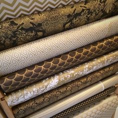 Black & Gold Bold Nepalese Patterned Paper Ladder!