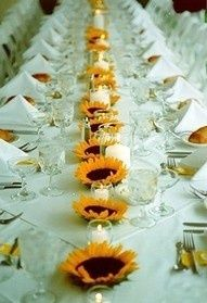 DIY sunflower centerpieces
