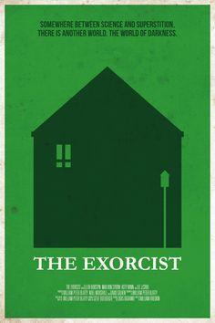 """Un jour, une affiche de cinema de genre dessinée par Belle Lurette. Aujourd'hui : le célèbre """"L'Exorciste""""."""