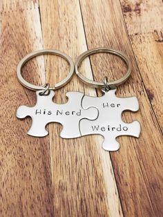 His Nerd Her Weirdo Keychains Geek Gift Couples Anniversary