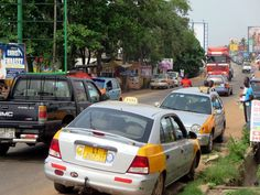 Teshie Road connects Tema to downtown Accra, Ghana.