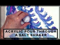 Acrylic Pour Through a Salt Shaker Acrylic Pouring Techniques, Acrylic Pouring Art, Acrylic Art, Acrylic Paintings, Diy Painting, Pour Painting, Painting Tutorials, Drawing Furniture, Stencil Printing
