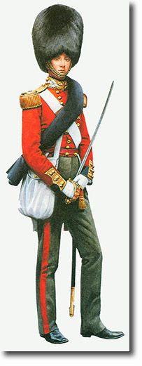 THE THIRD REGIMENT OF FOOT GUARDS (SCOTS GUARDS) ALFEREZ (en Crimea) - 1854. Más en www.elgrancapitan.org/foro