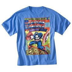 Captain America Boys Short-Sleeve Graphic Tee @ Target (Size Small)  For William