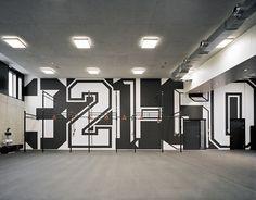 adidas gym environmental graphics by buro uebele